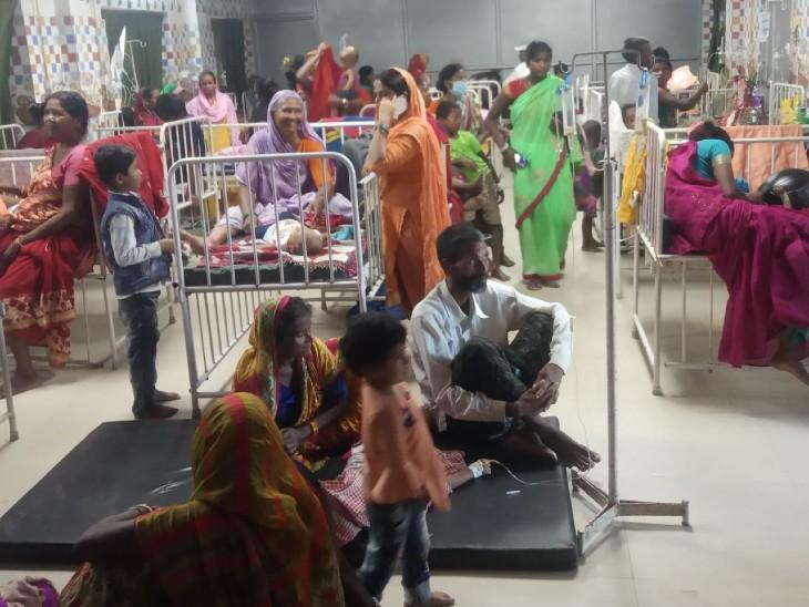 वायरल फीवर की वजह से राजकीय मेडिकल कॉलेज में बढ़ रही बीमार बच्चों की संख्या, डॉक्टर और नर्स की बढ़ाई गई ड्यूटी|बिहार,Bihar - Dainik Bhaskar