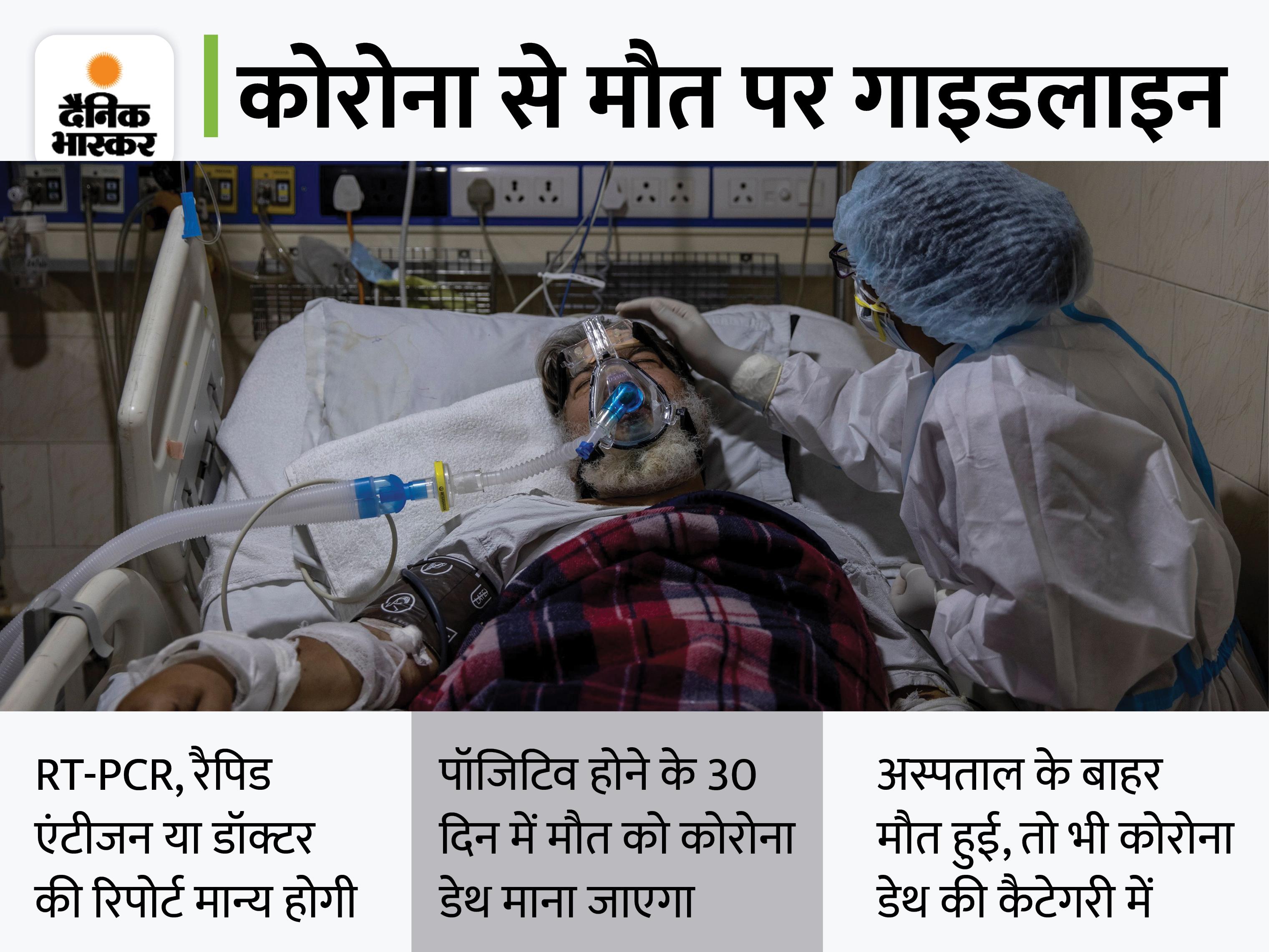 डेथ सर्टिफिकेट पर होगा कोरोना से मौत का जिक्र, सुप्रीम कोर्ट की सख्ती के 10 दिन बाद सरकार ने जारी की गाइडलाइन|देश,National - Dainik Bhaskar
