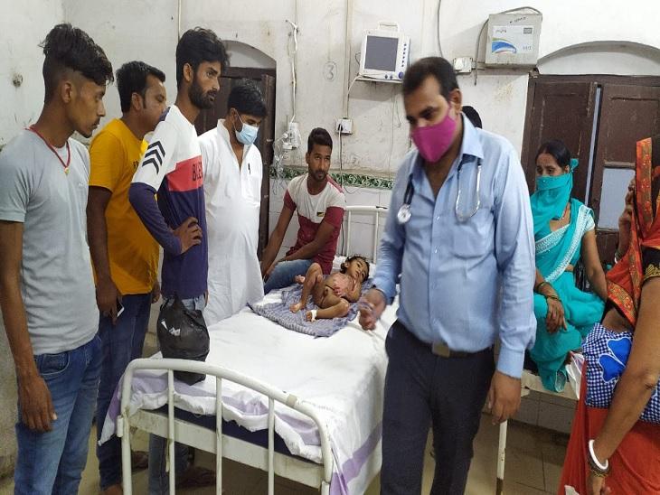 खेलने के दौरान रसोई में जल रहे दीपक की चपेट में आ गए, गंभीर हालत में सदर अस्पताल में किया गया भर्ती|सीवान,Siwan - Dainik Bhaskar