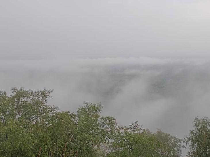 बदनोर वन क्षेत्र की पहाड़ियों प - Dainik Bhaskar