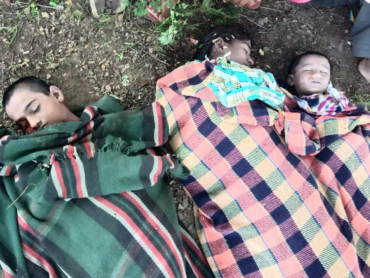 पिता के साथ मंदिर में दर्शन करने आई थीं 2 बेटियां और भतीजा, नदी के तेज बहाव में बह गए; 19 घंटे बाद मिले शव|कोटा,Kota - Dainik Bhaskar