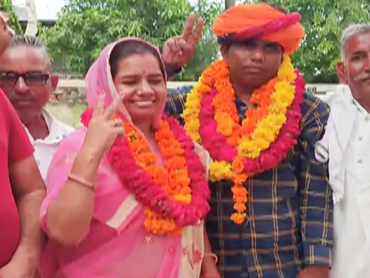 जयपुर की जिला प्रमुख रमा देवी चौपड़ा के साथ जैकी