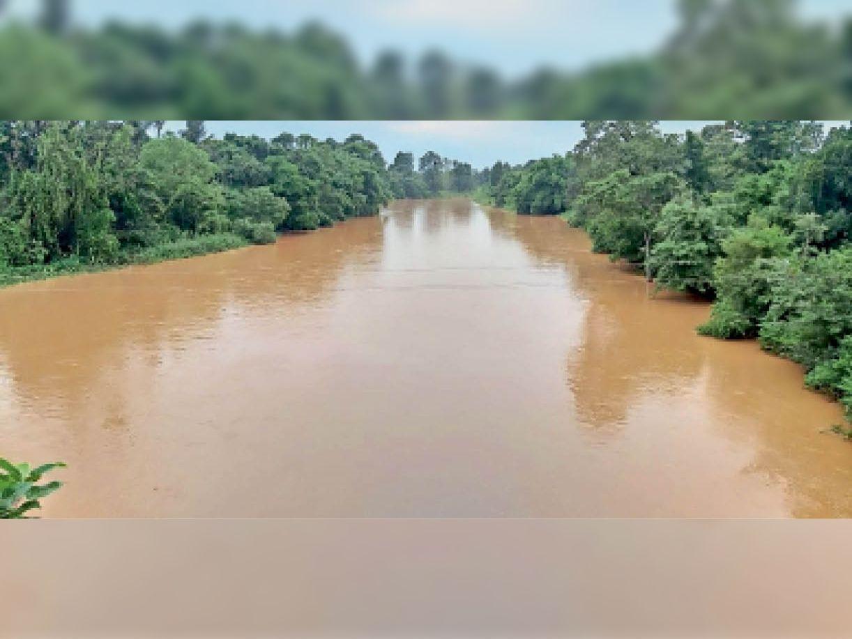 अंतागढ़। जिले में पिछले दिनों हुई तेज बारिश से क्षेत्र के नदी में इस मानसून में पहली बार दिखा ऐसा नजारा। - Dainik Bhaskar