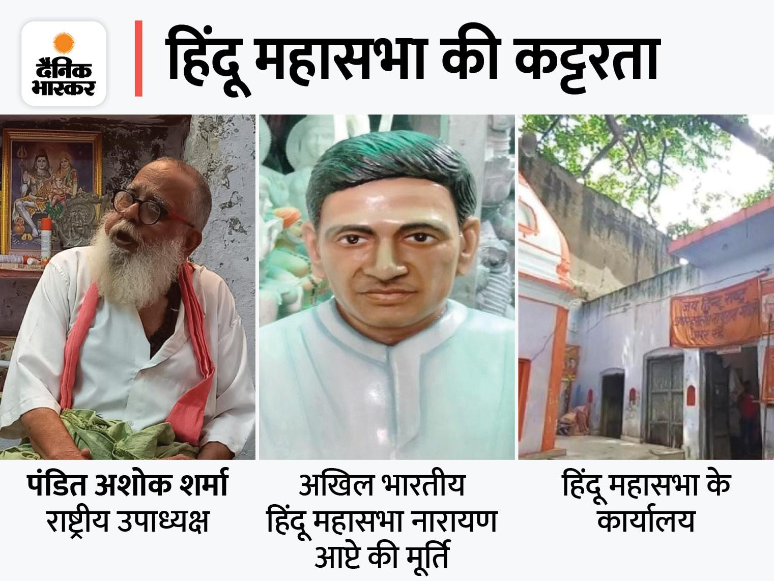 हिंदू महासभा 11 शहरों में लगाएगी प्रतिमा, राष्ट्रीय उपाध्यक्ष बोले- मुसलमान ओम के झंडे के नीचे पढ़ें नमाज मेरठ,Meerut - Dainik Bhaskar
