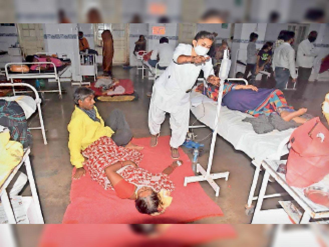 जिला अस्पताल में अभी के हालात - Dainik Bhaskar
