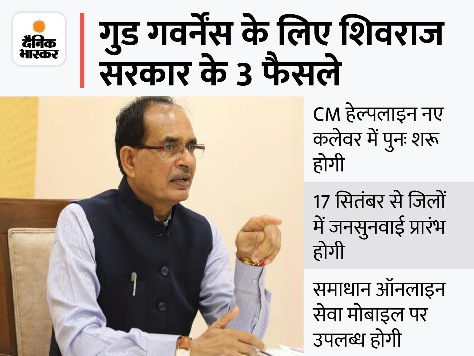 कोई भी फाइल मंत्री या अफसर के आफिस में 3 दिन से ज्यादा नहीं रहेगी; मंत्री महीने में एक दिन प्रभार वाले जिले में जनदर्शन करें|मध्य प्रदेश,Madhya Pradesh - Dainik Bhaskar