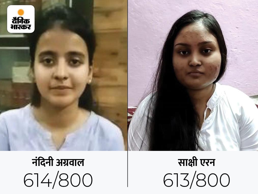 मुरैना की नंदिनी ने AIR-1 और इंदौर की साक्षी ने AIR-2 हासिल की, बेंगलुरू की बगरीचा साक्षी तीसरे नंबर पर रहीं|इंदौर,Indore - Dainik Bhaskar