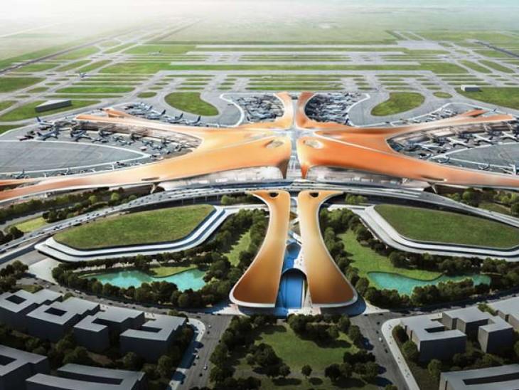 जेवर एयरपोर्ट का मॉडल। कुछ इसी तरह तैयार होगा एयरपोर्ट।