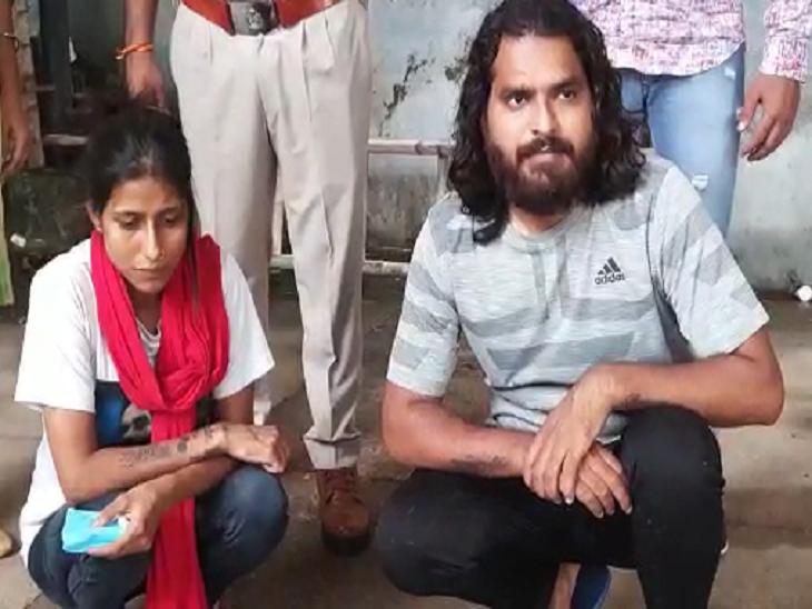 झज्जर पुलिस की गिरफ्त में रिवॉल्वर रानी मंजू आर्य उर्फ मीनू अपने साथी इकबाल के साथ।
