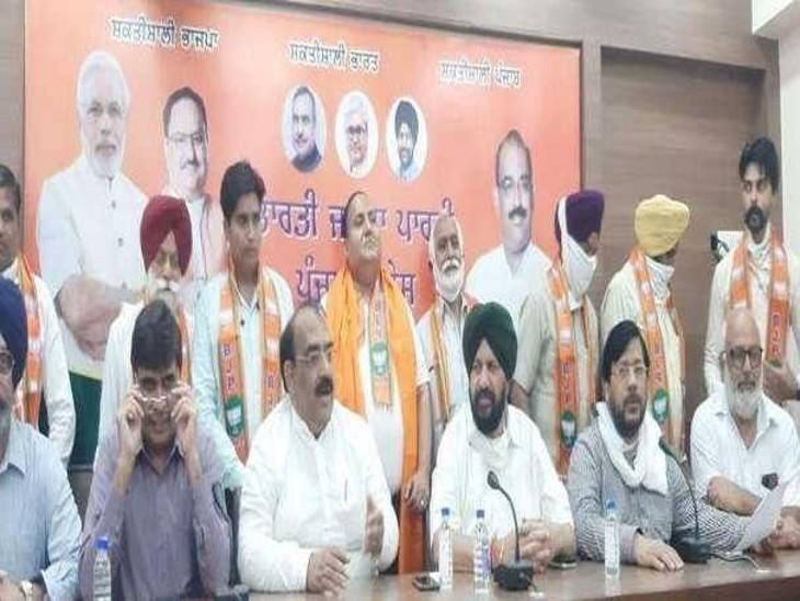 सीनियर कांग्रेसी नेता शमशेर दूलों का भतीजा निर्मल सिंह BJP में शामिल, प्रदेश अध्यक्ष अश्ववी शर्मा ने किया स्वागत|लुधियाना,Ludhiana - Dainik Bhaskar