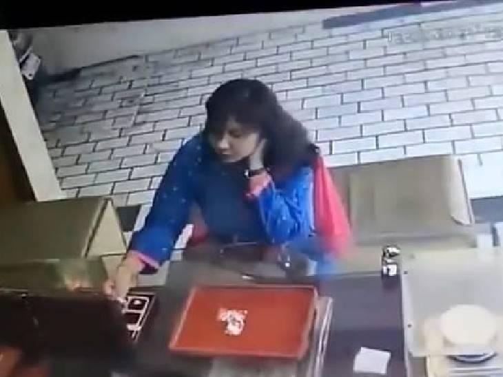 अंगूठी देखते-देखते चोरी कर ली; दुकानदार ने टोका तो लड़ने लगी, पुलिस से भी भिड़ी; फुटेज दिखाई तो कबूला जुर्म|कानपुर देहात,Kanpur Dehat - Dainik Bhaskar