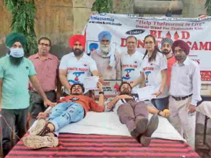 धर्म सिंह मार्केट के अर्बन हेल्थ सेंटर में लगाए गए शिविर में थैलीसीमिया वेल्फेयर एसोसिएशन ने इकट्ठा किया 49 यूनिट खून - Dainik Bhaskar