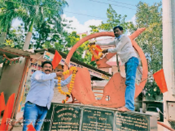 कार्यक्रम में माैजूद किसान। - Dainik Bhaskar