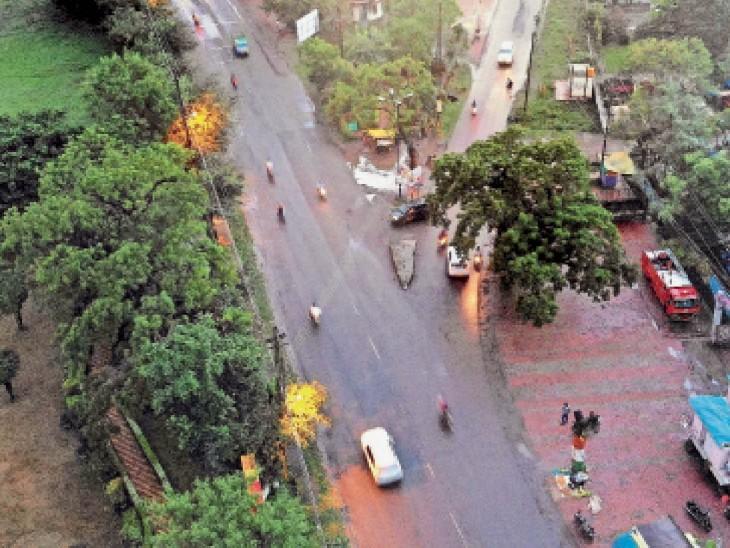 यातायात व पुलिस ने 3 साल में दो थाना क्षेत्रों में 7 व 7 थाना क्षेत्रों में 19 ब्लैक स्पॉट चिह्नित किए। - Dainik Bhaskar