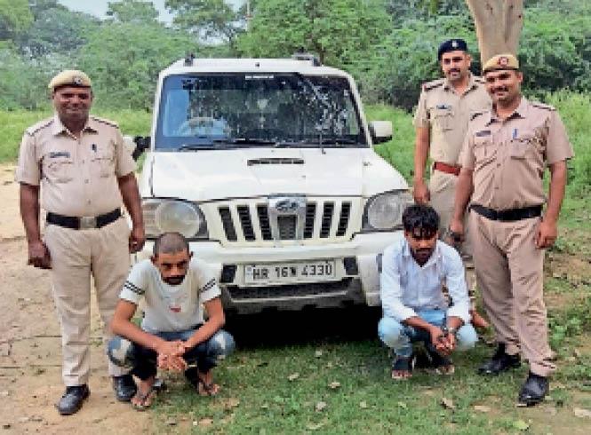 स्कॉर्पियो छीनने के आरोपी पुलिस गिरफ्त में। - Dainik Bhaskar