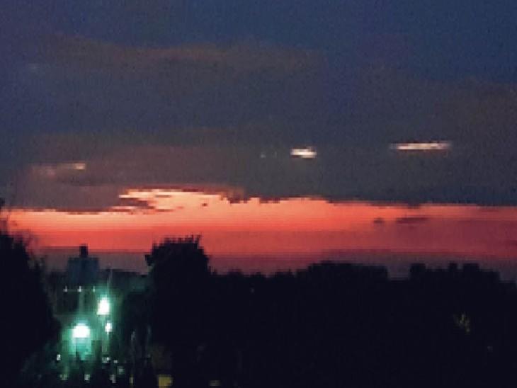रविवार को दिनभर तेज धूप और ढलती शाम को बिगड़ा मौसम । - Dainik Bhaskar