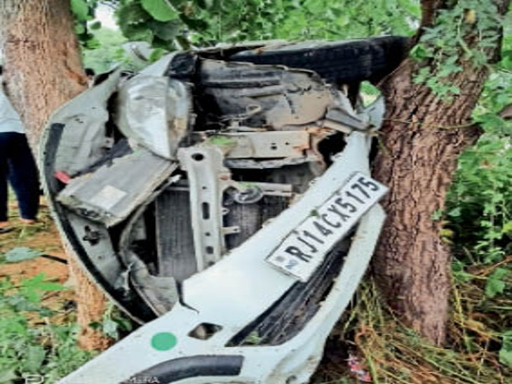 एक युवक घायल भी, एक ने मौके पर ही तोड़ा दम, शव सौंपे। - Dainik Bhaskar
