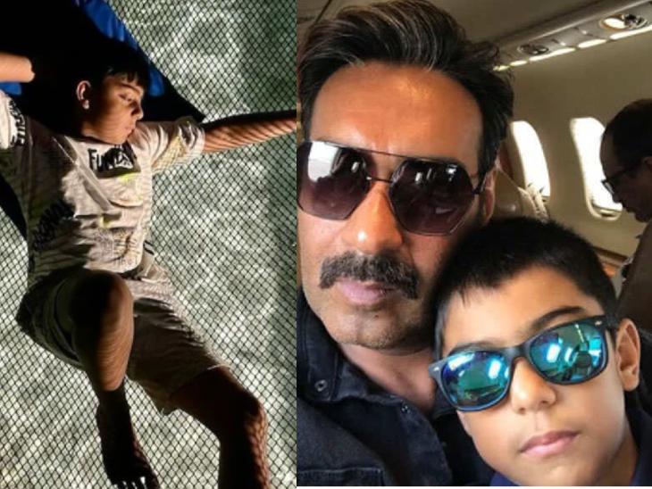 11 साल के हुए अजय देवगन के बेटे युग, एक्टर ने सोशल मीडिया के जरिए किया बर्थडे विश बॉलीवुड,Bollywood - Dainik Bhaskar