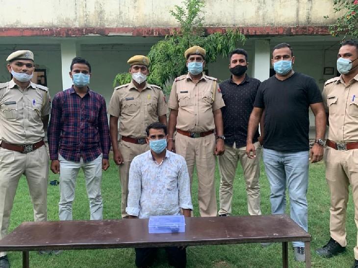 उत्तरप्रदेश से पिस्टल लेकर बेचने पहुंचा बदमाश पुलिस की गिरफ्त में। - Dainik Bhaskar