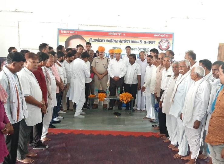 पंडित गोविंद बल्लभ पंत पुरस्कार से सम्मानित पूर्व ADG आरपी सिंह रहे डीडवाना दौरे पर, सर्व समाज के लोगों ने किया स्वागत-सत्कार|नागौर,Nagaur - Dainik Bhaskar