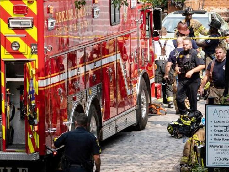 अमेरिका के अटलांटा इलाके में अपार्टमेंट में धमाका, 4 लोग घायल; इमारत के कई फ्लोर ध्वस्त|देश,National - Dainik Bhaskar
