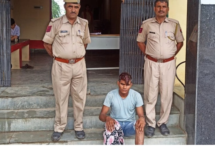 लक्ष्मणगढ़ के हरसाना में दो-तीन वारदात के बाद चोर को गिरफ्तार किया, रात को घरों में घुसता, पेंट की जेब से पैसे पार कर ले जाता|अलवर,Alwar - Dainik Bhaskar