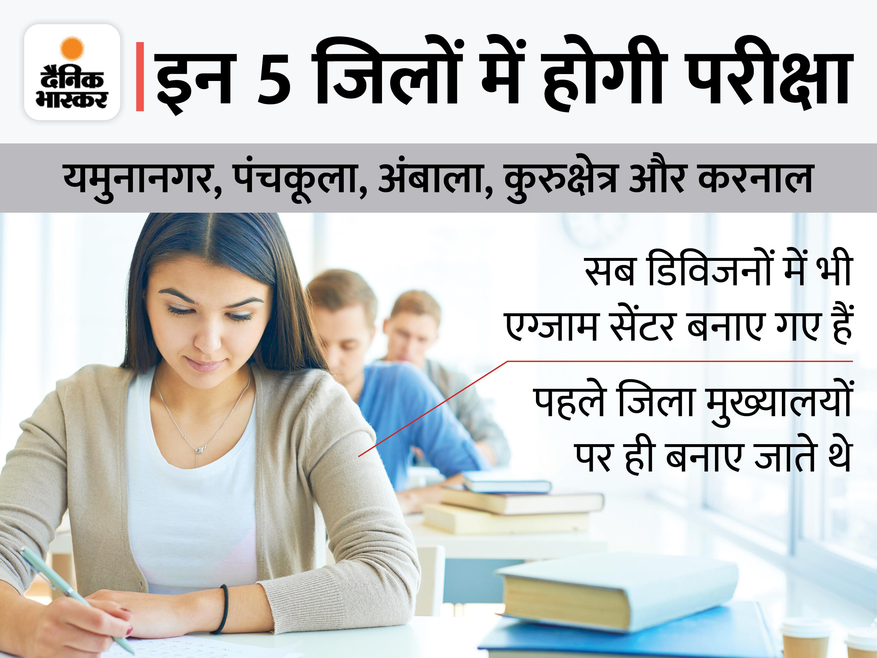 एडमिट कार्ड जारी; 5 जिलों में 18-19 सितंबर को होगा एग्जाम, पुरानी गलतियों को नहीं दोहराएगा HSSC|करनाल,Karnal - Dainik Bhaskar
