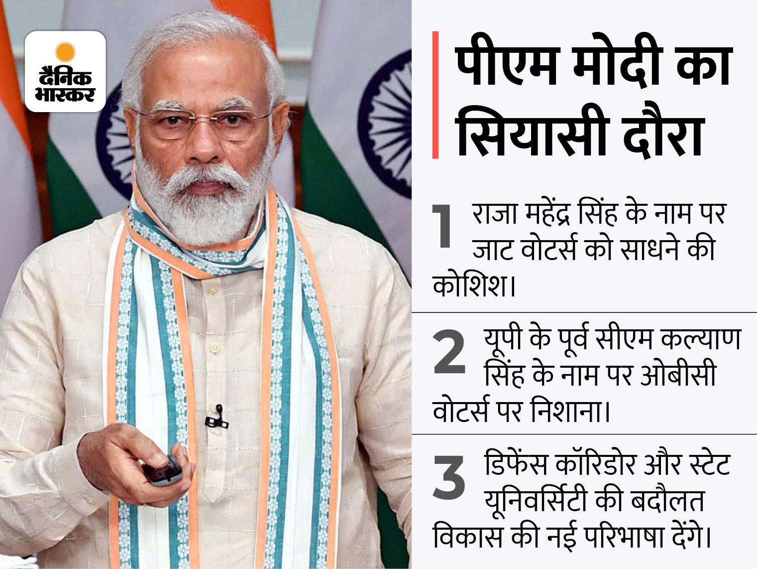 पश्चिमी यूपी की 100 विधानसभा सीटों पर फोकस; जाट और ओबीसी वोटर्स को साधने की कोशिश; 3 पॉइंट्स में समझें प्रधानमंत्री के दौरे का पूरा गणित|लखनऊ,Lucknow - Dainik Bhaskar