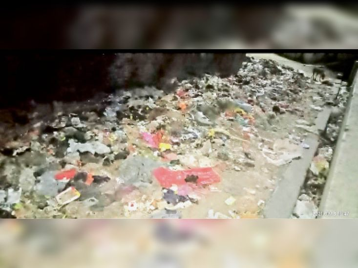 काली बाग मिसकार टोली में कचरे का अंबार। - Dainik Bhaskar