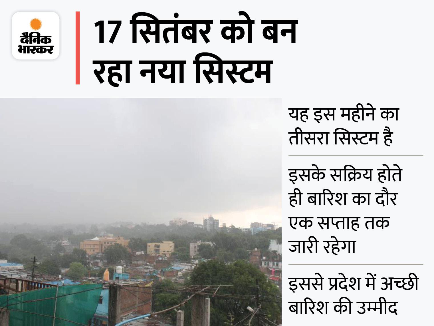 अगले 24 घंटों के दौरान भोपाल में तेज, इंदौर में रिमझिम बारिश होगी; 14 जिलों में भारी बारिश की चेतावनी|मध्य प्रदेश,Madhya Pradesh - Dainik Bhaskar