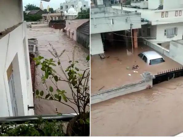 जामनगर-अमरेली-राजकोट-जूनागढ़ में भारी बारिश से 173 गांव प्रभावित हुए हैं। - Dainik Bhaskar