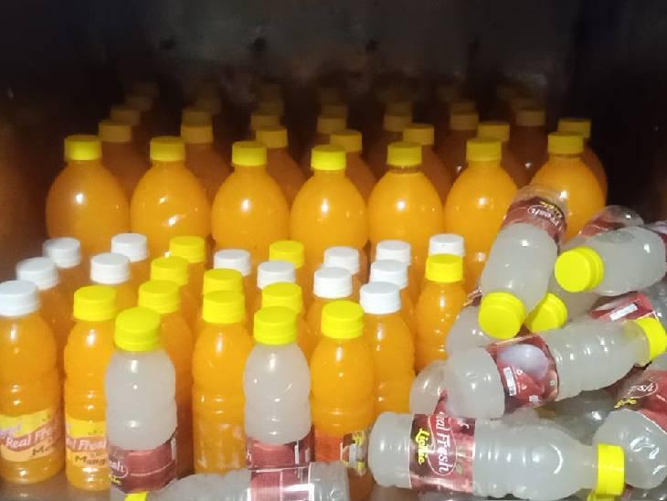 खाद्य औषधि प्रशासन विभाग ने नकली ब्रांड का पानी, पेय पदार्थ की फैक्ट्री पकड़ी|बुरहानपुर,Burhanpur - Dainik Bhaskar