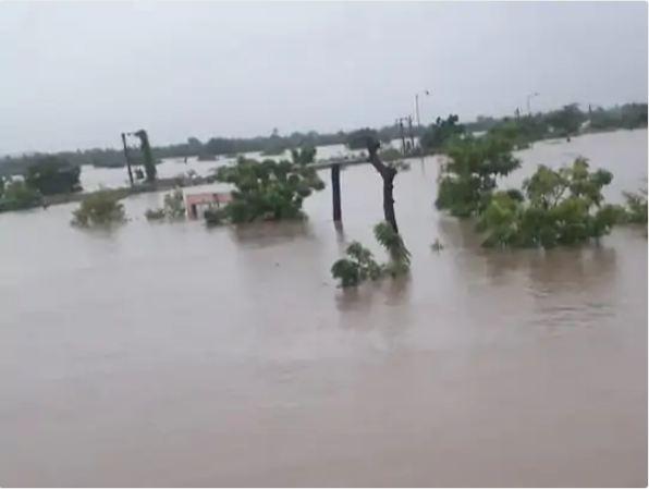 राजकोट जिले में 17 बांध ओवरफ्लो हो गए हैं।