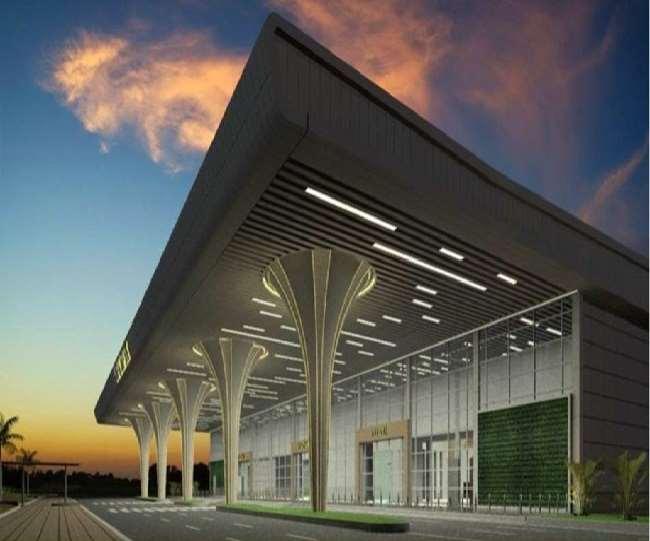 नए एयरपोर्ट टर्मिनल की प्रस्तावित डिजाइन।