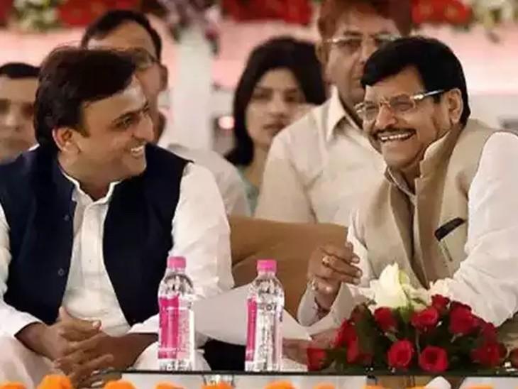 चाचा -भतीजे के बीच सुलह का फार्मूला तैयार, मिलकर लड़ सकते हैं चुनाव; सरकार बनी तो शिवपाल को सम्मान और बेटे आदित्य को मिलेगी जिम्मेदारी|लखनऊ,Lucknow - Dainik Bhaskar