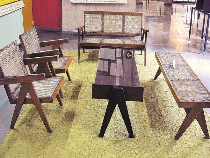 हेरिटेज सेल के मेंबर ने चंडीगढ़ की 6 वस्तुओं की वापसी की मांग की;इनमें मुख्य रूप से फर्नीचर शामिल चंडीगढ़,Chandigarh - Dainik Bhaskar