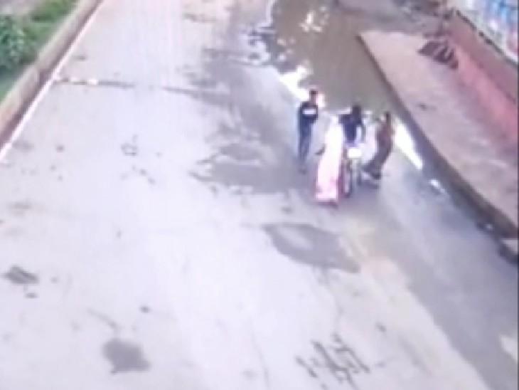 पुलिस को लूटपाट करने वालों के यह फुटेज मिले थे, जिसके बाद बदमाशों तक पुलिस पहुंच गई - Dainik Bhaskar