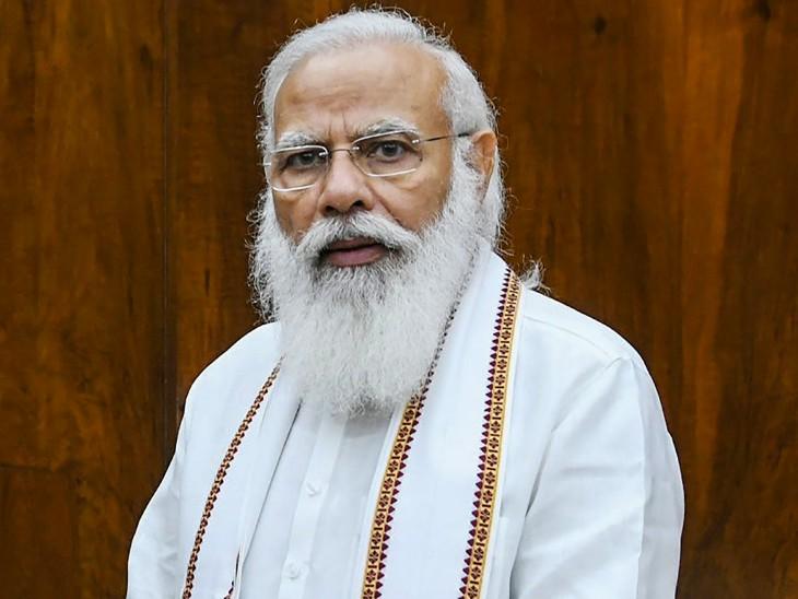 प्रधानमंत्री ने अपने मंत्रियों के साथ राष्ट्रपति भवन के ऑडिटोरियम में करीब दो घंटे तक मीटिंग की। - Dainik Bhaskar