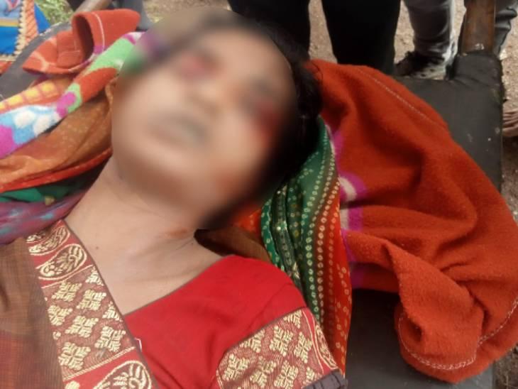 महिला की आंख और गले पर मिले चोट के निशान; परिजन ने ससुराल वालों पर लगाया हत्या का आरोप|रतलाम,Ratlam - Dainik Bhaskar