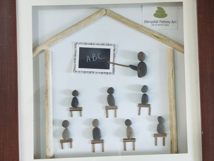 यह आर्ट प्रल्हाद ने बच्चों में एजुकेशन अवेयरनेस फैलाने को लेकर क्रिएट की है। इसी तरह उन्होंने स्वच्छता को लेकर भी डिजाइन तैयार की है।