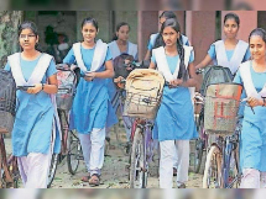 दो साल बाद जिले की 13 हजार 838 बेटियाें काे मिलेगी साइकिल|झुंझुनूं,Jhunjhunu - Dainik Bhaskar
