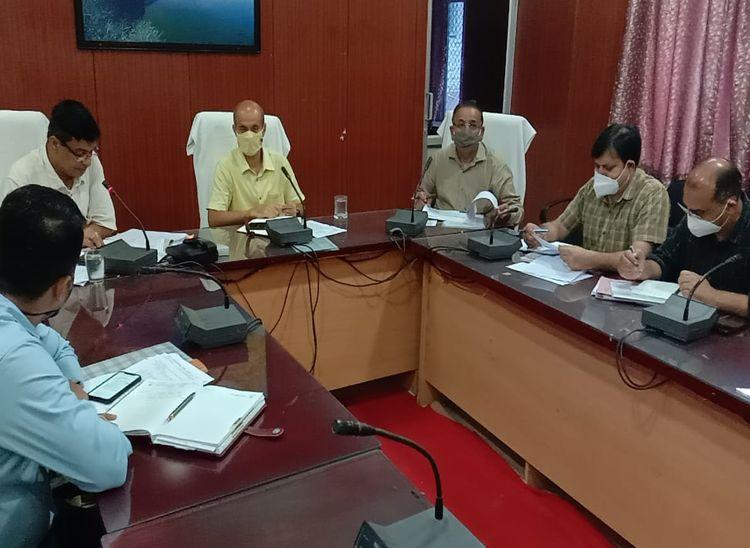जिला कलक्टर ने ली बैठक, दिए निकायों को अभियान में पट्टें जारी करने का लक्ष्य|पाली,Pali - Dainik Bhaskar