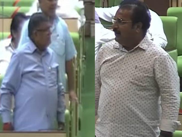 रोडवेज से जुड़े बिल पर परिवहन मंत्री के जवाब पर बीजेपी नाराज, वेल में आकर नारेबाजी; दो बार स्थगित करनी पड़ी कार्यवाही|जयपुर,Jaipur - Dainik Bhaskar