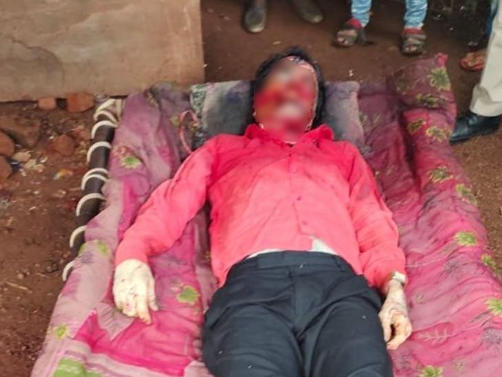 निपानिया गांव में एक युवक की नृशंस हत्या का मामला सामने आया है। - Dainik Bhaskar