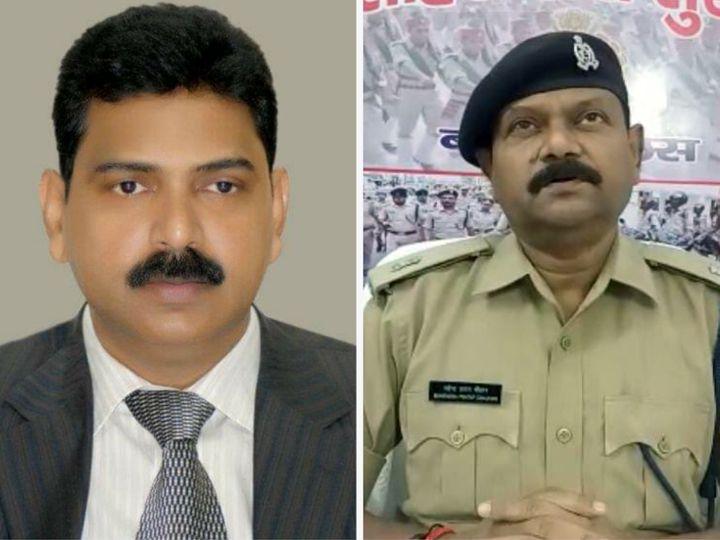 बांदा के डीएम आनंद कुमार सिंह और एएसपी महेंद्र प्रताप सिंह।