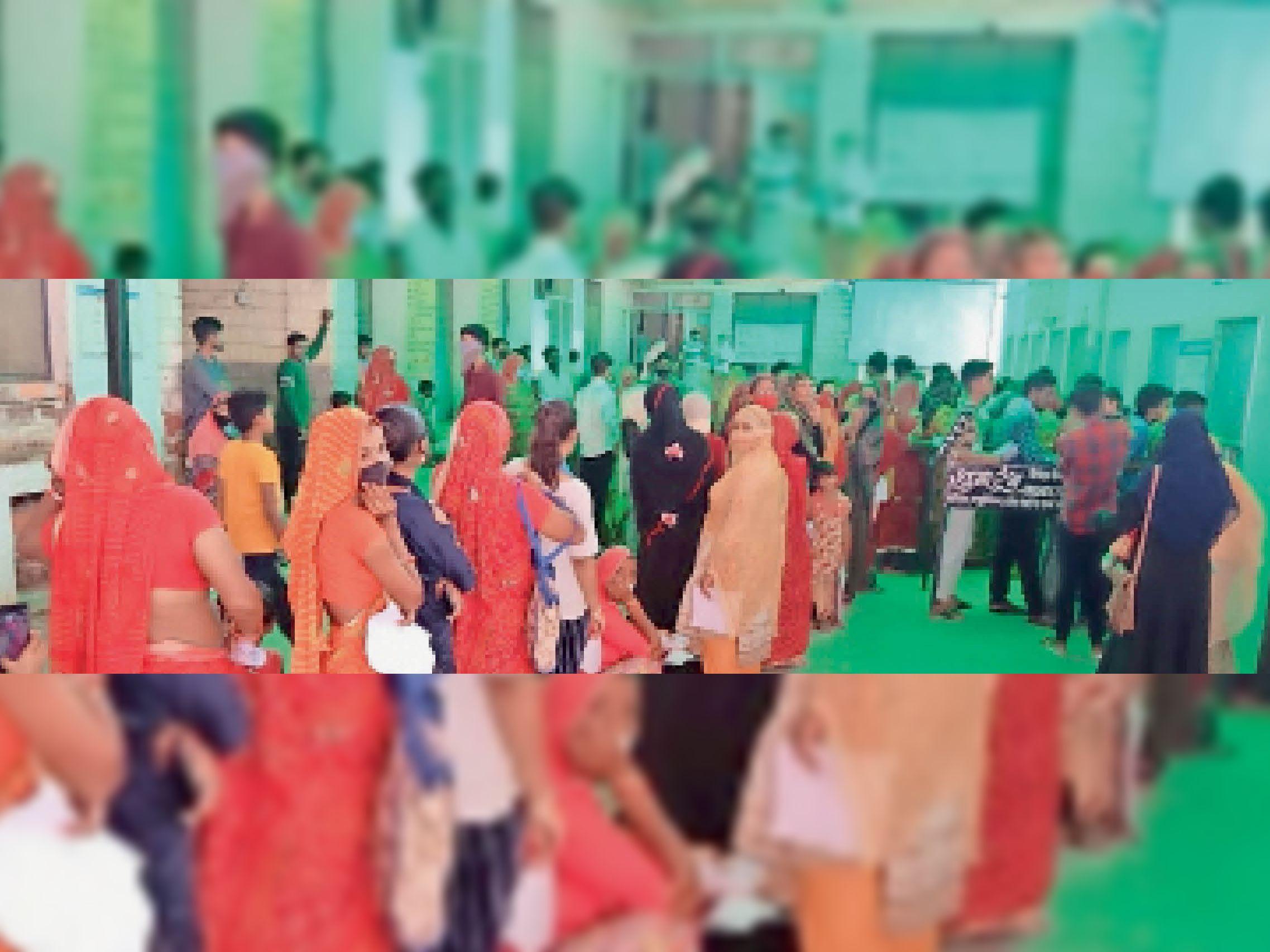 पर्ची काउंटरों पर लगी रोगियों की भीड़। - Dainik Bhaskar