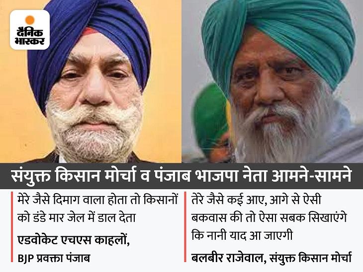 बलबीर राजेवाल बोले- बकवास की तो ऐसा सबक सिखाएंगे कि नानी याद आ जाएगी; किसानों को डंडे मार जेल में डालने का दिया था बयान|जालंधर,Jalandhar - Dainik Bhaskar