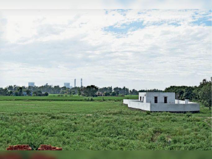 थर्मल के निकट बन रहा नया खुखराना गांव। - Dainik Bhaskar