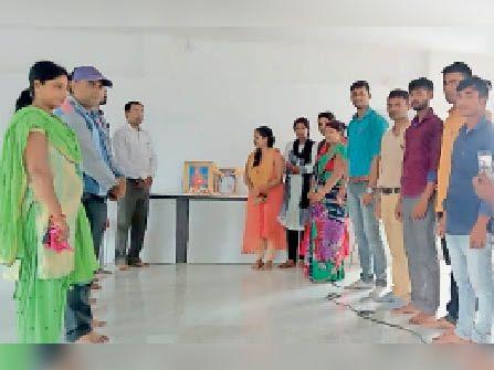समारोह में शामिल साईं स्कूल के विद्यार्थी व शिक्षकगण। - Dainik Bhaskar