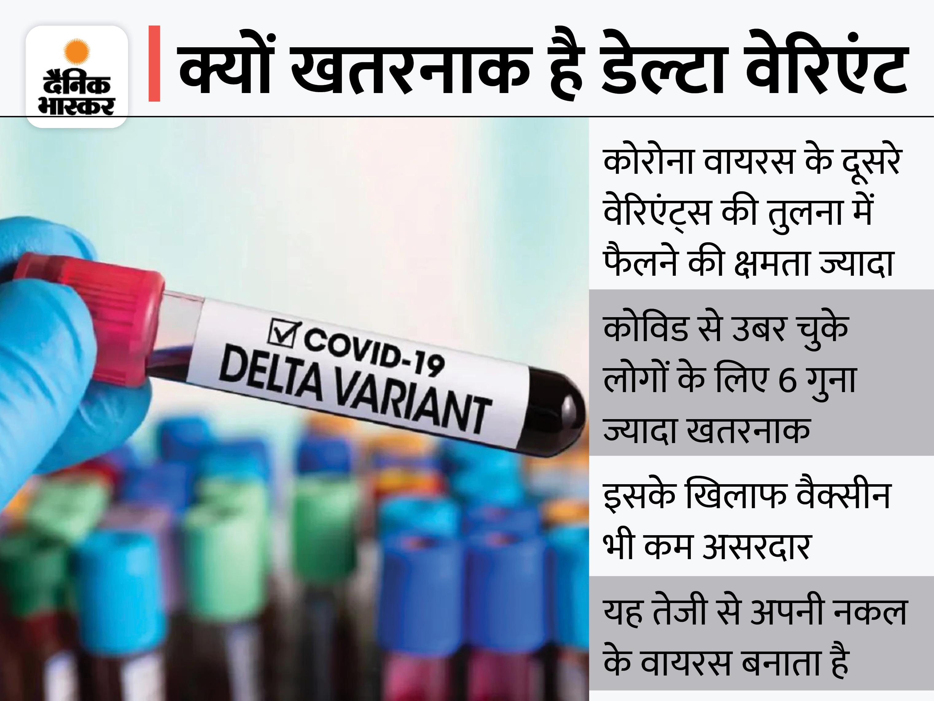 स्वास्थ्य विभाग ने 3 से 18 अगस्त के बीच कोरोना पॉजिटिव पाए गए 27 मरीजों के NCDC में भेजे थे सैंपल्स, 25 में मिला डेल्टा वेरिएंट|चंडीगढ़,Chandigarh - Dainik Bhaskar